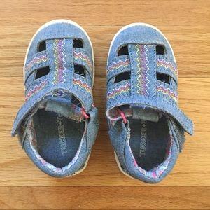 Tucker & Tate Denim Toddler Girl Sandal size 4
